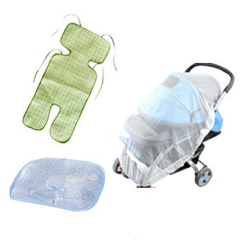 婴儿推车凉席蚊帐三件套