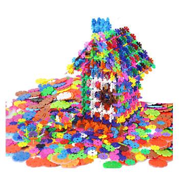 益智拼插雪花片玩具260片