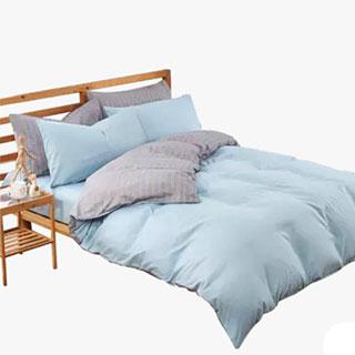 简约全棉四件套纯色床上用品纯棉床单被套