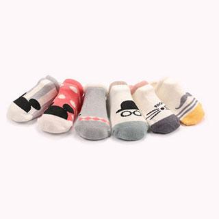 婴幼儿童全棉卡通船袜地板袜【5双】