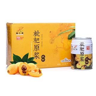 福仁缘枇杷原浆果汁一箱6瓶易拉罐装