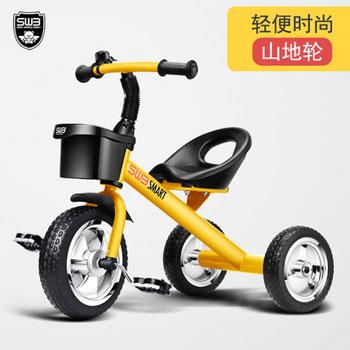 中世婴童免充气手推三轮车