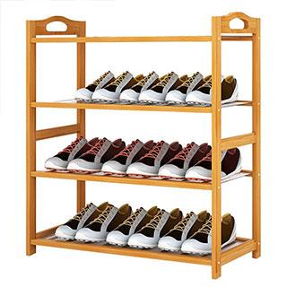 鞋架多层简易实木楠竹小鞋架鞋柜