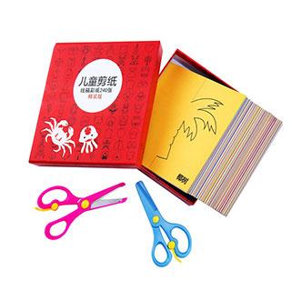 幼儿园宝宝儿童剪纸手工玩具套装