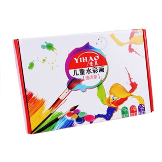 12色儿童diy水彩画填色画涂鸦画
