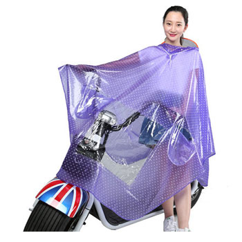 电动车透明雨衣