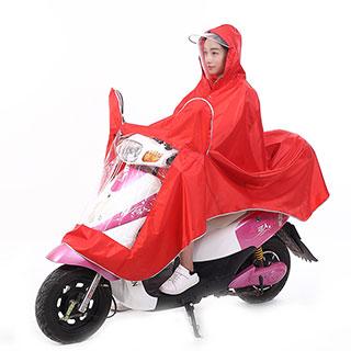 健江电动摩托车双帽罩雨衣