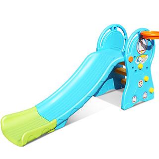 室内儿童塑料玩具滑梯可折叠