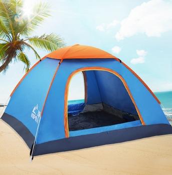 帐篷户外2人全自动3-4人家庭野外露营野营用品