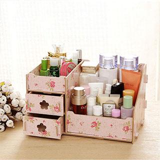桌面收纳盒梳妆台收纳箱