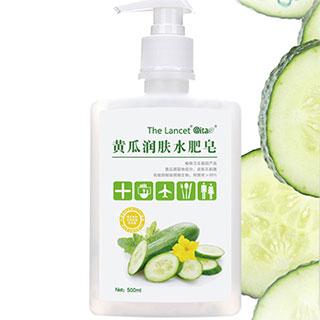 黄瓜清香润肤水肥皂洗手液500g