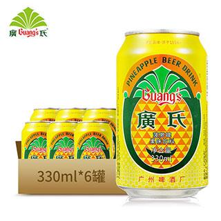 广式菠萝啤果味碳酸饮料330ml*6罐