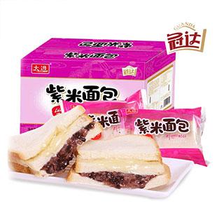 冠达紫米面包紫米奶酪面包1100g整箱