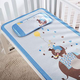 夏季婴儿冰丝凉席套件