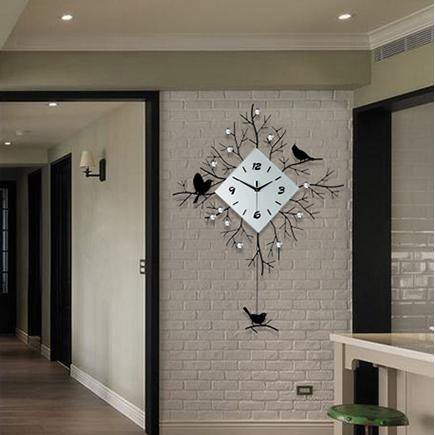 久久达挂钟北欧简约客厅现代创意艺术钟表