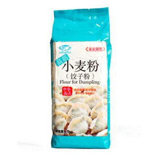 白鲨 高筋小麦粉1kg饺子面包专用面粉