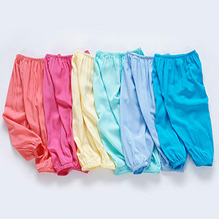 儿童宽松透气薄款绵绸空调防蚊裤
