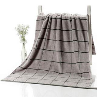 男女情侣儿童吸水舒适柔软 格子浴巾