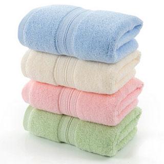 百事甜 纯棉4条装大毛巾洗脸面巾