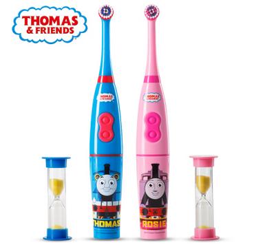 托马斯儿童电动牙刷旋转式杜邦软毛非充电式宝宝自动刷牙儿童牙刷