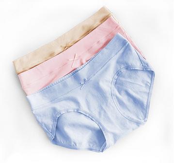 纳斐孕妇内裤纯棉怀孕期透气低腰托腹裆全棉