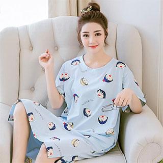韩版宽松可爱卡通甜美少女可外穿休闲家居服