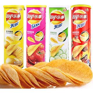乐事薯片104g*2罐 休闲办公零食