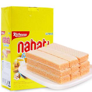 印尼进口零食丽芝士纳宝帝芝士夹心奶酪威化饼干200g