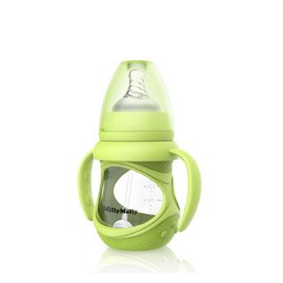 防摔硅胶宽口玻璃奶瓶