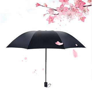 黑胶折叠防晒小黑伞