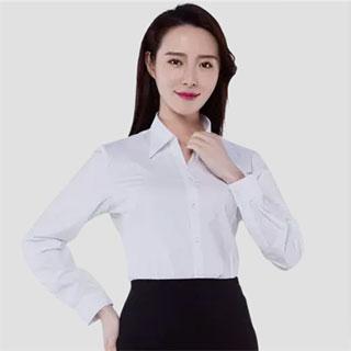 雅鹿秋季职业长袖白衬衫