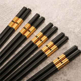 家用合金筷子10双装