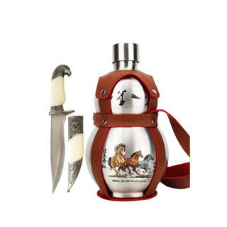不锈钢壶葫芦白酒3斤送刀