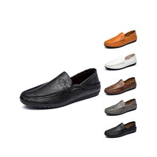 卡帝乐鳄鱼男士休闲皮鞋