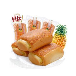 现做菠萝夹心面包500g