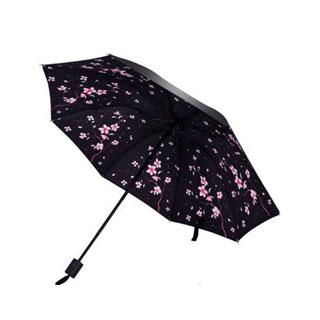 小清新超轻小黑胶晴雨伞