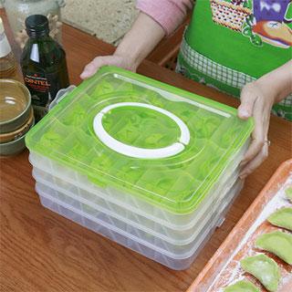 4层多功能冰箱收纳饺子盒