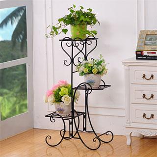 铁艺三层落地式花盆架