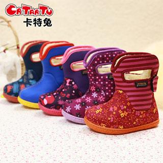 宝宝防水防滑学步棉靴