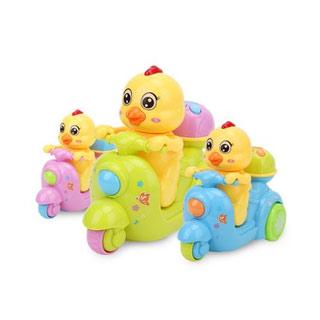 公鸡车电动万向发光玩具车