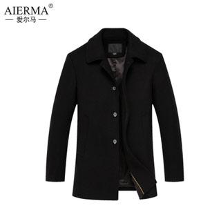 爱尔马休闲羊毛呢大衣