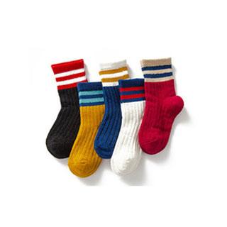 纯棉加厚中筒棉袜5双装