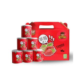 草莓胡萝卜粉水果罐头312g*6
