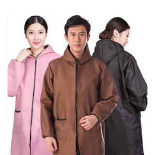 韩式加绒加厚防水围裙护衣