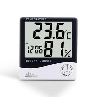 精准温度表带闹钟温湿度计