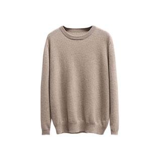 针织纯色宽松加厚羊绒衫