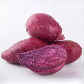 农家新鲜紫薯现挖番薯5斤