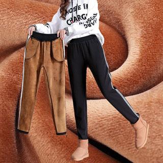 条纹运动裤休闲显瘦