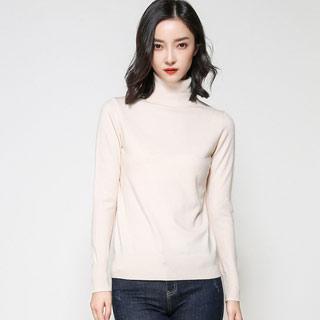 100%高领羊绒衫毛衣
