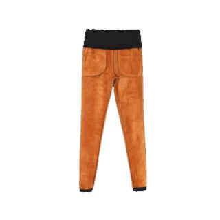 加绒加厚保暖高腰小脚裤